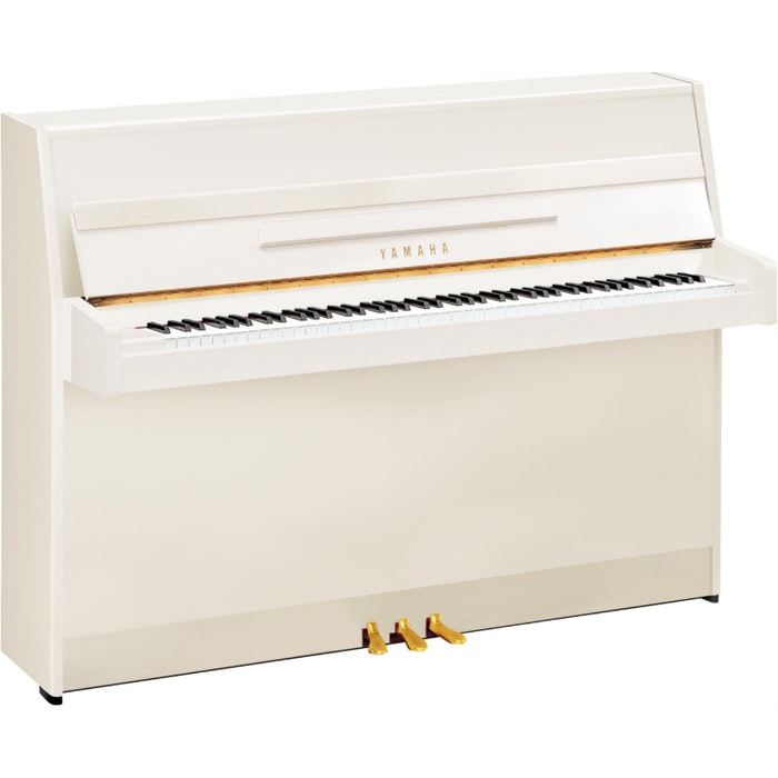 Yamaha B1 SC2 PWH messing silent piano (wit hoogglans)