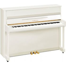 Yamaha B2E PWH messing piano (wit hoogglans)