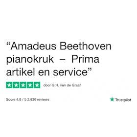 Amadeus Beethovenbank Klassiek ongelakt (zwart velours)