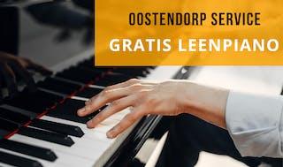Oostendorp service: Tijdelijk gratis leenpiano